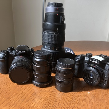 Rent Two Panasonic GH4 (both with V-Log) and 5 lenses. A perfect, compact kit on a budget