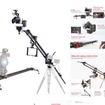 Rent Programmable camera slider and 4' jib w/remote head