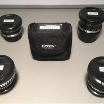Rent Vintage Zeiss Jena prime lens kit w/ ND filters