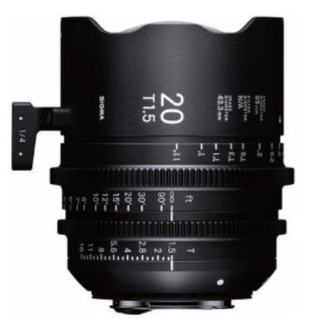 Rent SIGMA FF 20mm Cine Prime