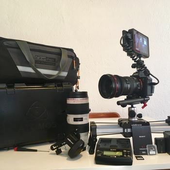 Rent Sony A7 III kit - Ninja V & media, two lenses , Edelkrone slider + follow focus
