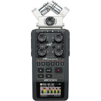 Rent New Zoom H6 Audio Recorder with Interchangeable Mic Inputs