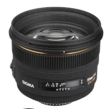 Rent Sigma 50mm f/1.4 DG HSM & M3/4 Mount Adapter