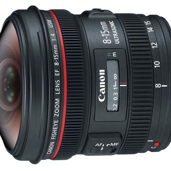Rent Canon EF 8-15mm f/4L Fisheye USM