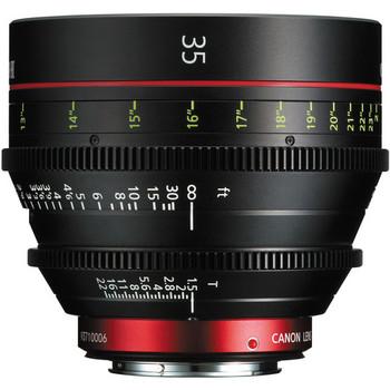 Rent Canon 35mm T1.3 CN-E Cine Prime Lens
