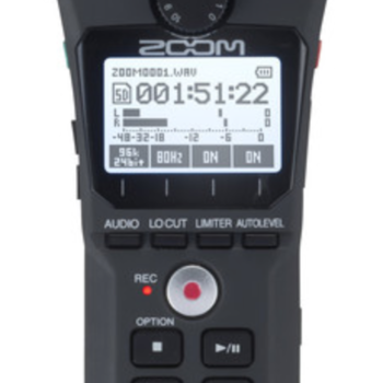 Rent NEW - Zoom H1n Digital Field Recorder with X/Y Stereo Mic