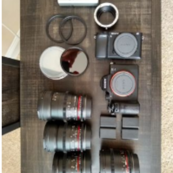 Rent Sony a7S II, a6300, and lens KIT