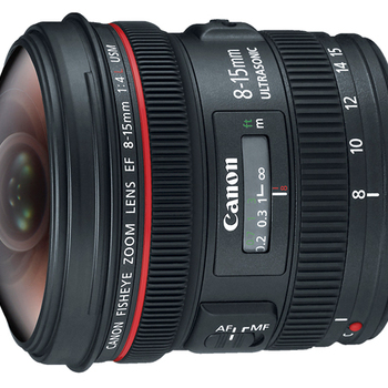 Rent Canon EF 8-15mm f/4.0L USM Wide Fisheye Zoom Lens