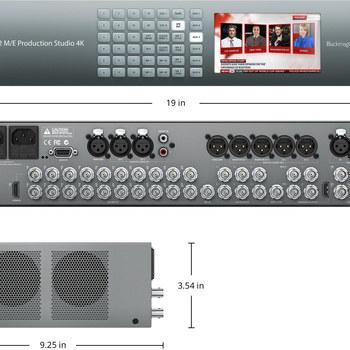 Rent BlackMagic ATEM Production Studio 4K 2/ME (KIT) with 4 Teranex Converters