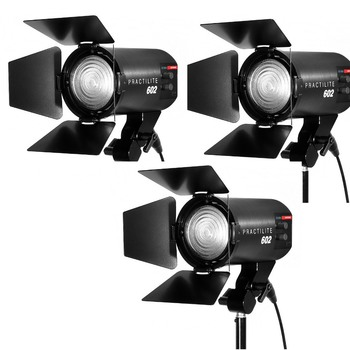 Rent Kinotehnik Practilite 602 Bi Color LED Fresnel 3 Light Kit