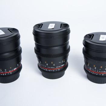 Rent Rokinon Cine DS 3 Lens Kit EF