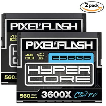 Rent (2) Pack Cfast 2.0 PixelFlash 256GB Hypercore 3600X Memory Cards