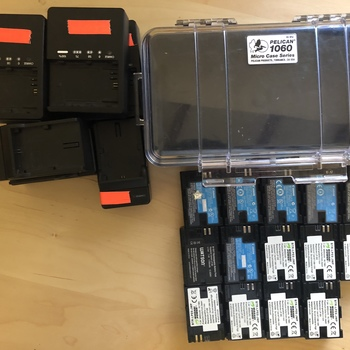 Rent Canon LP-E6 Battery (14x) Chargers (7x) Kit