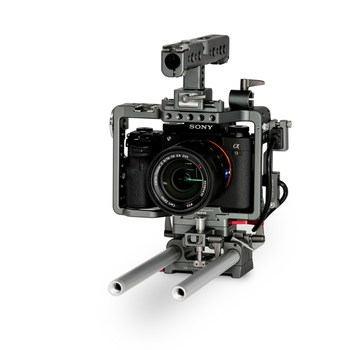 Rent Sony A7S II  Production Kit (Tilta Cage attached) with Rokinon Cine Lens (24 & 85mm), Zeiss Sonnar T* FE 55mm F1.8,  and Sony FE 24-240mm f/3.5-6.3 OSS Lens