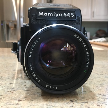 Rent Mamiya M645 1000s medium-format manual focus SLR w 80mm f/1.9 lens