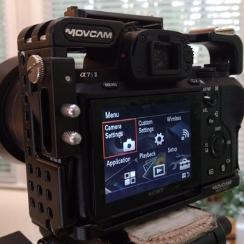 Rent Sony A7Sii with MoveCam Cage and Metabones Canon Mount Adapter