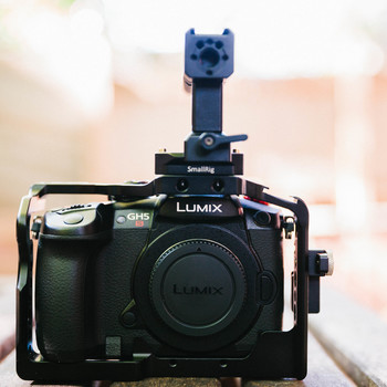 Rent Lumix DC-GH5S Mirrorless Micro Four Thirds Digital Camera with Smallrig Cage and Handle