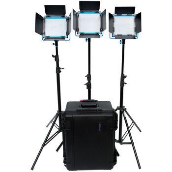 Rent Dracast LED500 S-Series Bi-Color 3-Light Kit with V-Mount Battery Plates and Hard Case