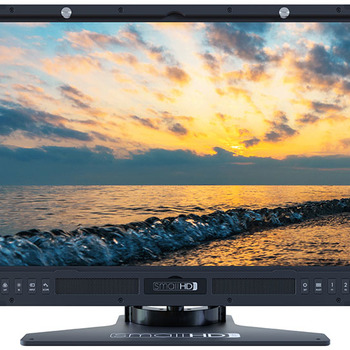 """Rent 24"""" HDR production monitor with C-Stand - 10-bit Color, 1000 cd/m², daylight-viewable, 1920x1080, ColorFlow 3D LUT Processing, Page Builder OS"""