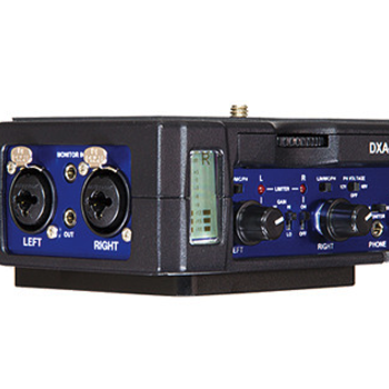 Rent Audio kit for DSLRs and Sony Mirrorless:  Beachtek DXA Ultra Preamp w Mics