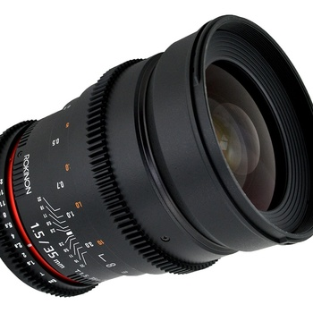 Rent Rokinon 35mm T1.5 Cine DS EF Mount Lens -- NEW with case!