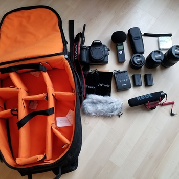 Rent Canon 80d w/ Lenses, Mic set and carrying backpack