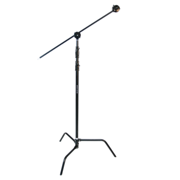"Rent 10.4' Steel C-Stand (Removable Turtle Base / 2x 3.0"" Grip Head / 40"" Grip Arm)"