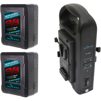 Rent 2x Micro- 98Wh Li-Ion V-Mount Batteries with Charger