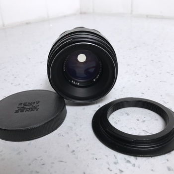 Rent Helios 44-2 58mm f/2.0 Prime Lens with Canon EF-Mount Adapter