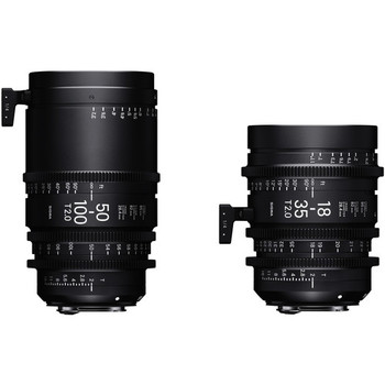 Rent Sigma 18-35mm T2 & 50-100mm Cine High-Speed Zoom Lenses for Canon EF with Case