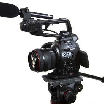 Rent Kit: Canon C100mi w/ Tripod, Lenses, Audio, & Media/Batt