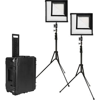 """Rent 4x LED light kit - 2x Westcott Flex Bi-Color (12""""x12"""") and 2x LED Genaray Bi-color LED (6""""x12"""") Lighter than Astra"""