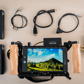 Rent Director's Monitor Kit with Teradek 500, SmallHD 702 Bright, and cage