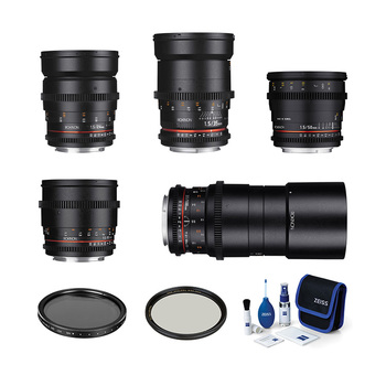 Rent Rokinon Cine DS Set (EF, Full Frame / 24, 35, 50, 85, 100 Macro)