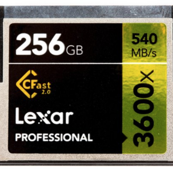 Rent Two Lexar 256GB 3600x CFast 2.0 Memory Cards (Alexa Mini)