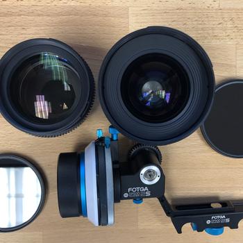 Rent Rokinon Cine Lens Kit(24,85 - T1.5) with Follow Focus setup