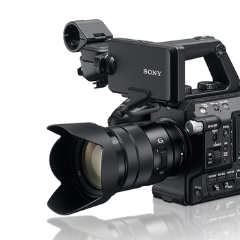 Rent Sony FS5 With  Zacuto Z-Finder loupe and Sony 18-105mm f/4 kit lens