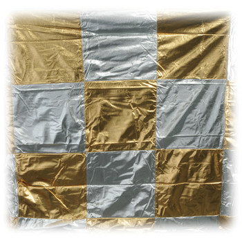 Rent 6'x 6' Checkerboard Lame/Silver-Gold