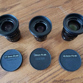 Rent Voigtlander Nokton F.095 Prime Set (17.5mm, 25mm, 42.5mm)