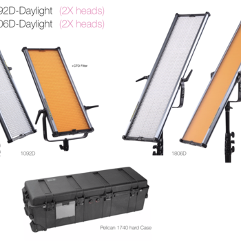 Rent CAME-TV LED Panel Kit (Kino Flo style)