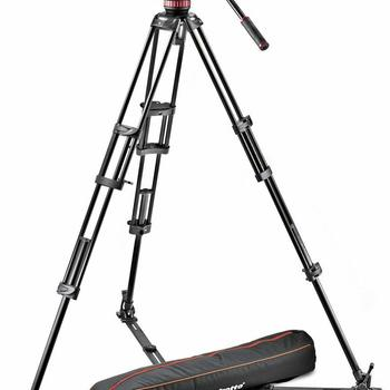 Rent Manfrotto MVH502A,546GB-1 Professional Fluid Video System with Ground Spreader