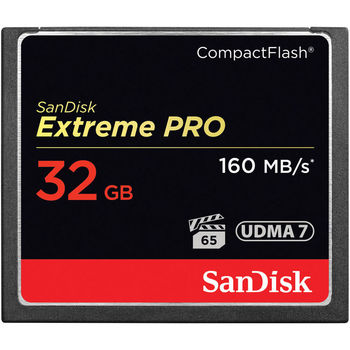 Rent SanDisk 32Gb Extreme CompactFlash Memory Card