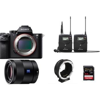 Rent Documentary Kit Sony Alpha a7S II Mirrorless 55mm Karl Zeiss + Sennheriser Audio