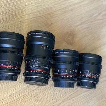 Rent Rokinon Cine Prime Lens Set for Canon EF (16mm, 35mm, 50mm, 85mm)