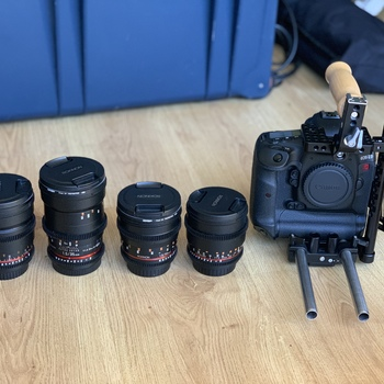 Rent Full Indie Camera/Lens/Lighting/Boom Mic Package (Canon 1D C & Dracast)