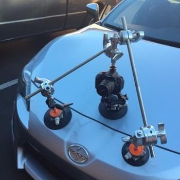 Rent Custom made heavy duty 5/8 car mount.