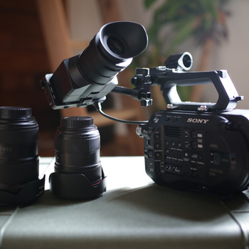 "Rent Sony FS7 MKII ""Run & Gun"" Kit w/ 2 Lenses, Mic, Lavs"