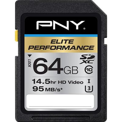 Pny technologies p sdx64u395 ge 64gb elite sdxc uhs 1 card 1435612911000 1164630