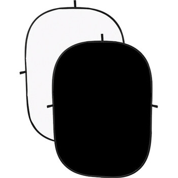 Rent Impact Collapsible Background - 5 x 7' (Black/White)