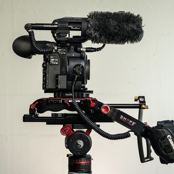 Rent Canon C200 + Shoulder Rig + 4 Batteries + 4 CFast Cards + 6 SD Cards + Shotgun Mic + VCT Tripod Plate